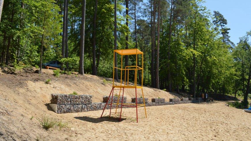 """Zakończono inwestycję: """"Zagospodarowanie terenu przy kąpielisku w miejscowości Sulęczyno"""""""